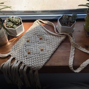 Handbags - Small crochet fringe purse